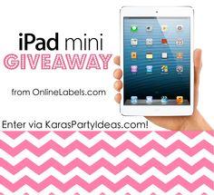 Ipad mini Giveaway via Kara's Party Ideas karaspartyideas.com #ipad #mini #giveaway