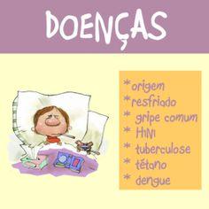 Apostila com 18 páginas prontas para imprimir e usar. Confira no http://www.janainaspolidorio.com/doencas.html