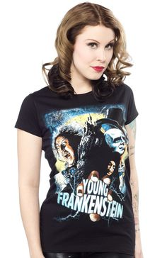 ROCK REBEL YOUNG FRANKENSTEIN GIRLY TEE $22.00 #rockrebel #youngfrankenstein #frankenstein #comedy #genewilder