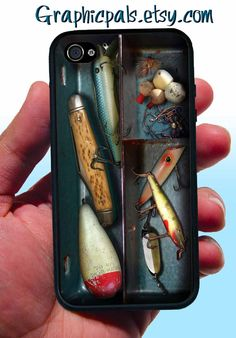 iPhone 4  4s Case Fishing Tackle Box design  by Graphicpals, $15.00