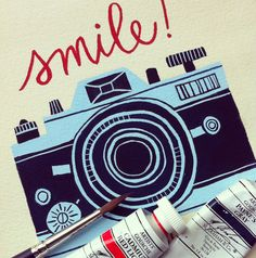 smile! Camera painting by 1canoe2. Card coming soon!