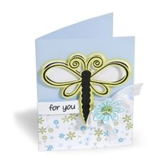For You Dragonfly Card. Project by Beth Reames.