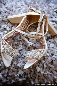 Wedding shoe ideas - gold, jewels, heels {Walker Wedding Group}