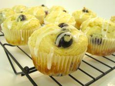 Blueberry Lemon Muffins with Lemon Glaze - Damn Delicious