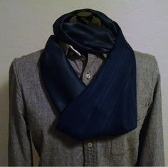 Time to keep wram with a  green and blue infinity scarf