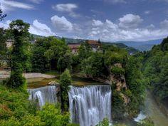 Jajce Waterfall In Bosnia xHD Wallpaper on MobDecor http://www.mobdecor.com/b2b/wallpaper/220142-jajce-waterfall-in-bosnia