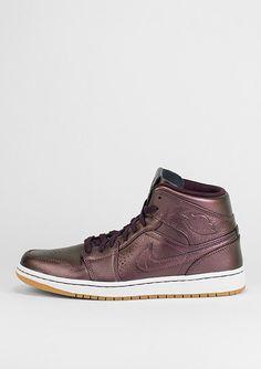 JORDAN Basketballschuh Air Jordan 1 Mid Nouveau brgndy/wht - Schuhe