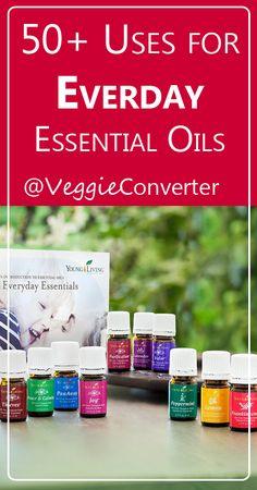 50+ Uses for Everyday Essential Oils | @VeggieConverter essentialoils