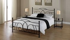 Unbelievable price on Lily Black King Size Bed Frame in Warrington (United Kingdom) company Bensons for Beds, Company. Linen Bedding, Bedding Sets, Bed Linen, Metal Bedsteads, Black Iron Beds, King Size Bed Frame, Black King, Stay Cool, Bedding