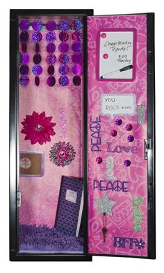 25 diy locker decor ideas for more cooler look Cute Locker Decorations, Cute Locker Ideas, Diy Locker, Locker Stuff, Girls Locker Ideas, Locker Shelves, Middle School Lockers, Middle School Hacks, Diy Back To School