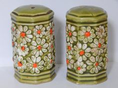 Green Salt and Pepper Shaker by TigergirlCrafts on Etsy, $7.00