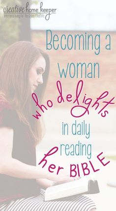 Ready to shift the mindset of reading the Bible daily out of duty into a delight? Let's become a generation of women who delight in God's Word every single day with these 20 ideas for making reading the Bible daily a time of indulgence! #Biblestudy #Biblereading