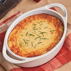 Parmesan Corn Pudding. This tasty side dish takes a quicker approach to classic corn pudding. You'll love the cheesy Parmesan twist.