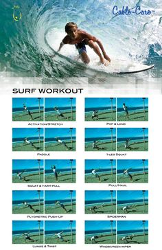 Surf workout. Some of these are gonna get me some VERY funny looks at the gym.