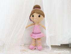 Ballerina doll - Free crochet pattern by Amigurumi Today