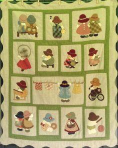 Sunbonnet Sue, Applique Fabric, Embroidery Applique, Small Quilts, Easy Quilts, Aplique Quilts, Irish Chain Quilt, Snowman Quilt, Patchwork Bags