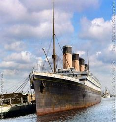 A colorized photo of Olympic while she was held up before scrapping