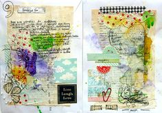 lovely watercolor and writing in this art journal