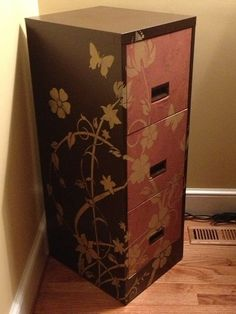 1000 ideas about filing cabinet redo on pinterest With what kind of paint to use on kitchen cabinets for metal wall art target