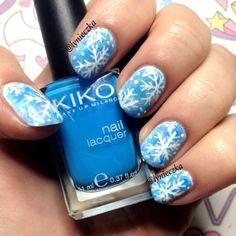 snowflakes by lynieczka #nail #nails #nailart