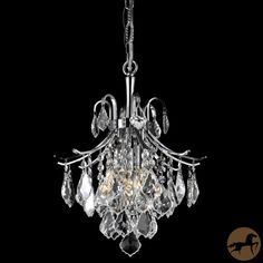 Add glimmering light to your home with this crystal three-light chandelier. Featuring a chrome-finished frame thats dripping with sparkling crystals, this beautiful light fixture would be a great addition to a room that needs a bit of elegance.