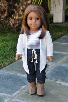 American Girl Clothes  Cream Cardigan Wrap by LoriLizGirlsandDolls