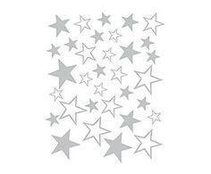 Cosas de niños: Vinilo adhesivo Estrellas, gris