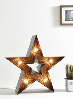 Fairground Lighting, Marquee Light. Wedding lighting. Cut-out Star Marquee Light.  Industrial vintage light, BHS