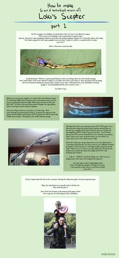 Tutorial: Loki's Scepter part 1 by *nooby-banana on deviantART -  I couldn't find part 3 of tutorial :-(