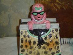 VANDOR Pink Attitude POODLE in a PURSE Cookie Jar by LONLAR803, $39.00