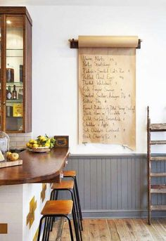 love this idea instead of chalkboard. Probably in kitchen