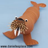 Recycled water bottle walrus craft