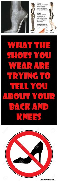 WHAT THE SHOES YOU WEAR ARE TRYING TO TELL YOU ABOUT YOUR BACK AND KNEES