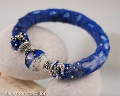 bracelet cordon lampwork bleu nuit | Flickr - Photo Sharing!