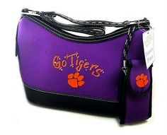 Clemson University Handbag NWT NCAA Clemson Tigers Go Tigers & Cellphone Case