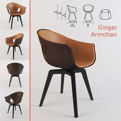 Кресло Ginger Poltrona Frau