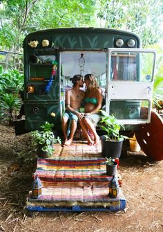 I want to travel all through Europe in love in a Gypsy bus.