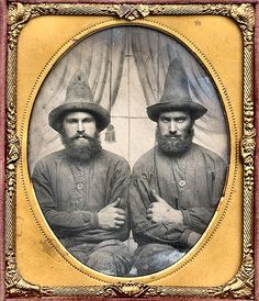 the coned hats of wisdom in a daguerrotype
