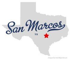 Map of San Marcos Texas TX