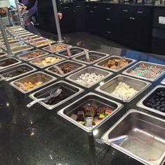 Photo of Yogart Frozen Yogurt Studio - Edgewater, NJ, United States. Biggest topping bar I've seen