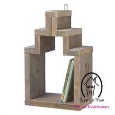 Muurkastje steigerhout, 30x40 cm, eigen merk Saartje Prum