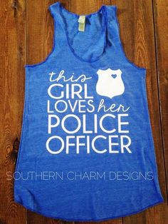 This Girl Loves Her LEO Law Enforcement Racerback Tank - ALL BADGE STYLES from Southern Charm