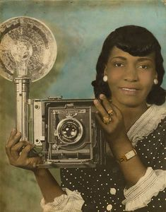 Say Cheeese | 1940s    Colorized photograph, 1940s.    Vintage African American photography courtesy of Black History Album, The Way We Were.