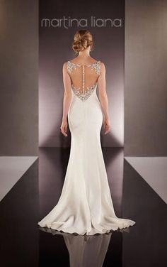 Sheath Wedding Dress Illusion Back 4fef42d2c0ff