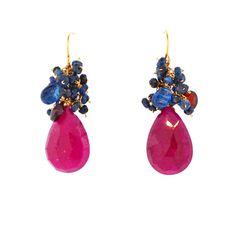 Ruby Red Earrings – Mabel Chong