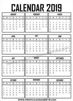 A4 2019 Calendar To Print Templates Print Calendar 2019