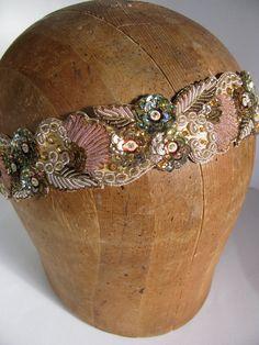 Grecian Gold Beaded Headband