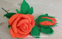 rose uncinetto con gambo aperte: schemi e tutorial - manifantasia Thread Crochet, Love Crochet, Crochet Flowers, Sunburst Granny Square, Crochet Patterns Amigurumi, Lana, Crochet Earrings, Sewing, Knitting