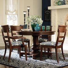 "44"" Pedestal Table Dining Room Sets, Dining Room Furniture, Dining Room Table, Kitchen Tables, Kitchen Dining, Outdoor Furniture, Four Seater Dining Table, Round Dining Table, Round Tables"