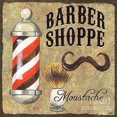 Vintage Barbershop Signs - Art - Barber Shoppe 1  by Debbie DeWitt